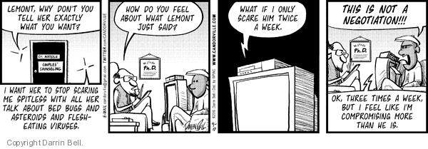 Comic Strip Darrin Bell  Candorville 2012-07-13 eat