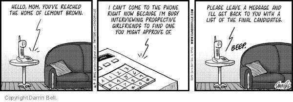 Cartoonist Darrin Bell  Candorville 2012-07-14 telephone