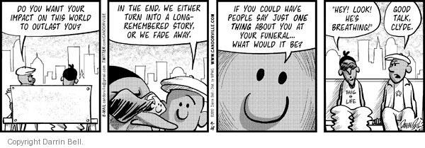 Comic Strip Darrin Bell  Candorville 2010-09-28 good influence