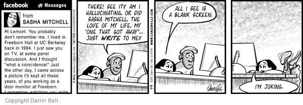 Comic Strip Darrin Bell  Candorville 2010-10-12 hallucination