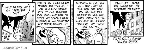 Comic Strip Darrin Bell  Candorville 2010-10-16 love