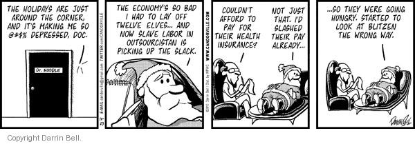 Comic Strip Darrin Bell  Candorville 2010-10-23 insurance payment
