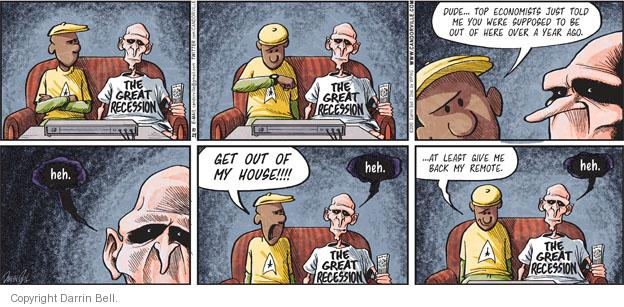 Cartoonist Darrin Bell  Candorville 2010-10-24 recession
