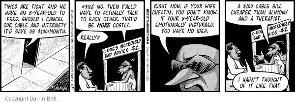 Comic Strip Darrin Bell  Candorville 2010-10-25 expense
