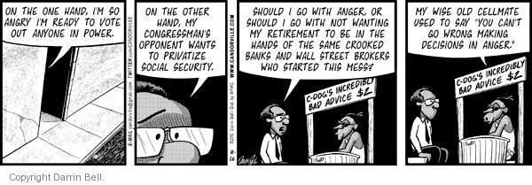Comic Strip Darrin Bell  Candorville 2010-10-26 bad advice