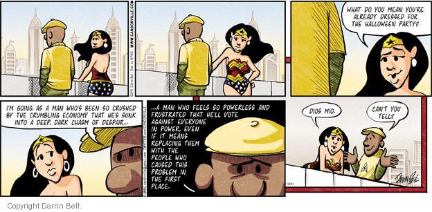 Comic Strip Darrin Bell  Candorville 2010-10-31 despair