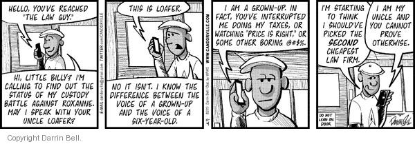 Comic Strip Darrin Bell  Candorville 2010-11-04 call