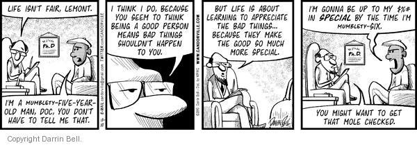 Comic Strip Darrin Bell  Candorville 2010-11-10 good