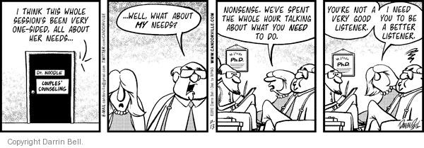Comic Strip Darrin Bell  Candorville 2010-11-13 counselor