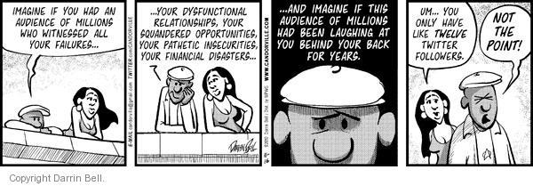 Comic Strip Darrin Bell  Candorville 2010-11-16 embarrassment