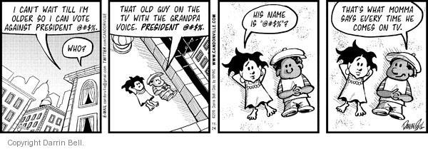 Cartoonist Darrin Bell  Candorville 2010-11-24 wait