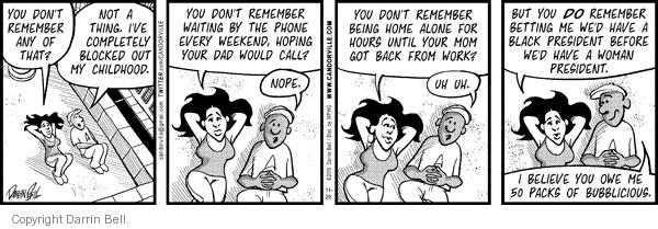 Comic Strip Darrin Bell  Candorville 2010-11-26 woman president