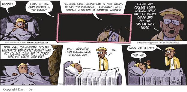 Comic Strip Darrin Bell  Candorville 2010-11-28 prevent