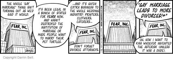 Comic Strip Darrin Bell  Candorville 2010-12-01 wedding
