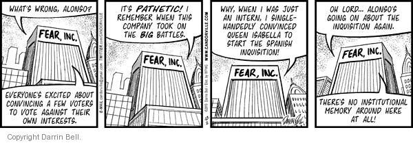 Comic Strip Darrin Bell  Candorville 2010-12-02 fear