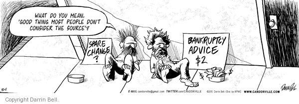 Comic Strip Darrin Bell  Candorville 2010-12-11 good advice