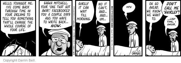 Comic Strip Darrin Bell  Candorville 2010-12-15 call