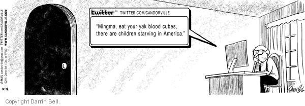 Comic Strip Darrin Bell  Candorville 2010-12-18 eat