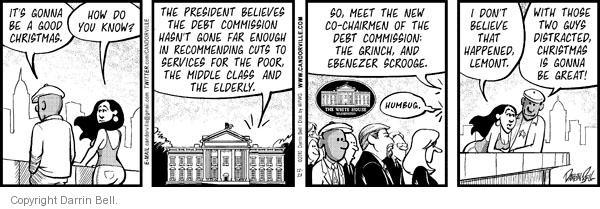 Comic Strip Darrin Bell  Candorville 2010-12-23 spending cut