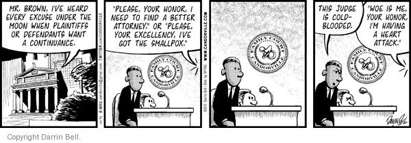 Comic Strip Darrin Bell  Candorville 2010-12-31 defendant