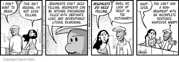 Comic Strip Darrin Bell  Candorville 2011-01-07 disagreement