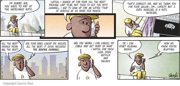 Comic Strip Darrin Bell  Candorville 2011-01-09 price increase