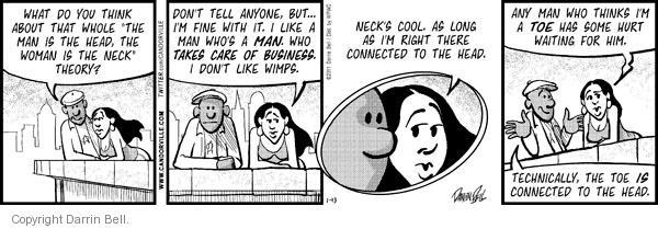 Comic Strip Darrin Bell  Candorville 2011-01-13 man