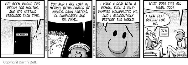 Comic Strip Darrin Bell  Candorville 2011-01-25 destruction