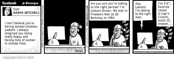 Comic Strip Darrin Bell  Candorville 2011-02-03 man