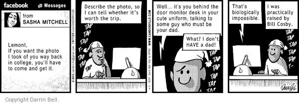 Comic Strip Darrin Bell  Candorville 2011-02-05 university