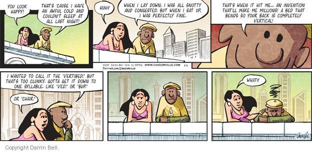 Comic Strip Darrin Bell  Candorville 2011-02-06 get sick