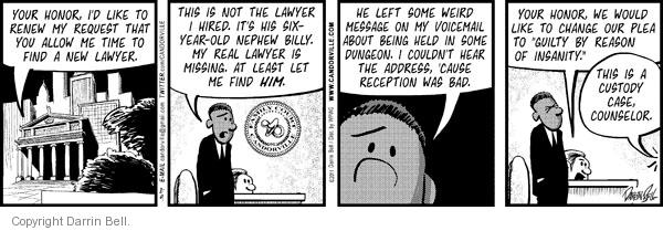 Comic Strip Darrin Bell  Candorville 2011-02-09 not guilty