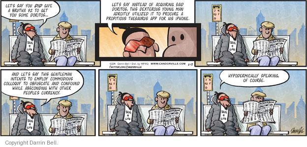 Cartoonist Darrin Bell  Candorville 2011-02-13 big word