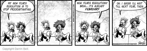 Comic Strip Darrin Bell  Candorville 2011-02-14 new year's resolution