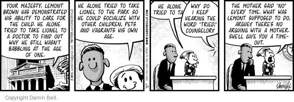 Comic Strip Darrin Bell  Candorville 2011-02-24 counselor