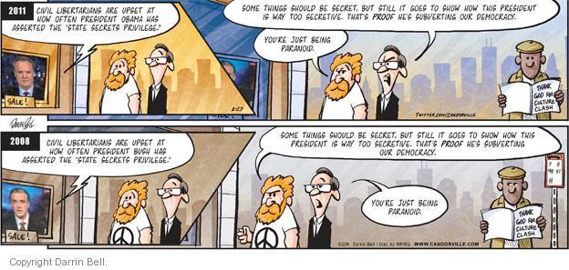Cartoonist Darrin Bell  Candorville 2011-02-27 politics
