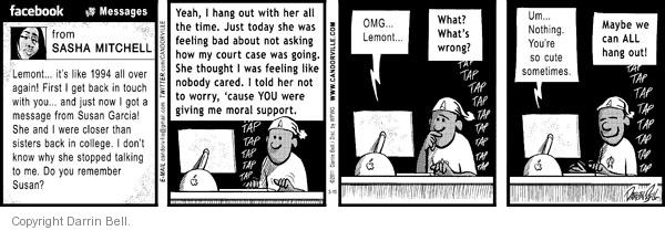 Comic Strip Darrin Bell  Candorville 2011-03-10 wrong time