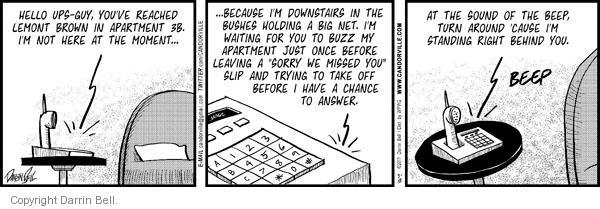 Comic Strip Darrin Bell  Candorville 2011-03-12 greet