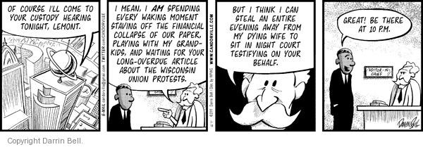 Comic Strip Darrin Bell  Candorville 2011-03-16 Wisconsin