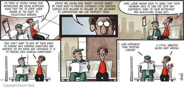 Comic Strip Darrin Bell  Candorville 2011-03-20 spending cut