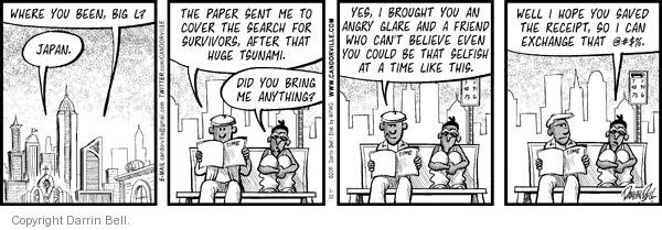 Comic Strip Darrin Bell  Candorville 2011-03-22 self-centered