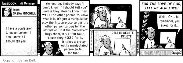 Comic Strip Darrin Bell  Candorville 2011-03-29 insecure