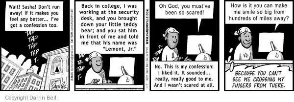 Comic Strip Darrin Bell  Candorville 2011-04-02 embarrassment