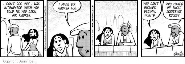 Cartoonist Darrin Bell  Candorville 2011-04-18 intimidation