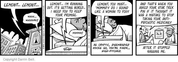 Comic Strip Darrin Bell  Candorville 2011-04-25 hallucination