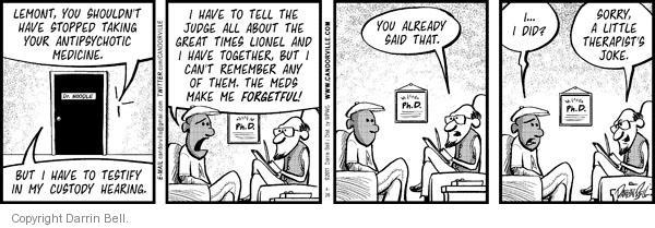 Cartoonist Darrin Bell  Candorville 2011-04-26 medicine