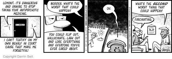 Comic Strip Darrin Bell  Candorville 2011-04-30 hallucination