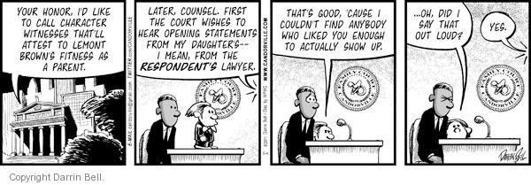Comic Strip Darrin Bell  Candorville 2011-05-04 courthouse
