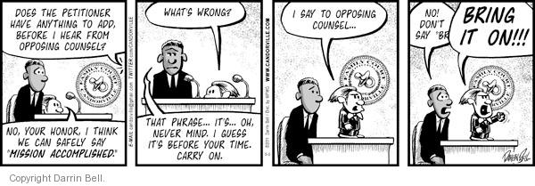Comic Strip Darrin Bell  Candorville 2011-05-05 wrong time
