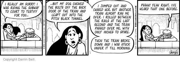 Cartoonist Darrin Bell  Candorville 2011-05-19 delay